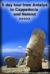 cappadocia and nemrut tour from antalya